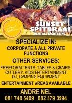 Sunset Spitbraai Rentals & Catering