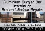 Aluminium Burglar Bar Installations